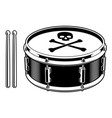 black and white of drum vector image