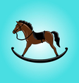 Brown toy rocking horse vector image vector image