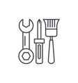 building tools line icon concept building tools vector image vector image