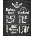 business lunch menu vector image vector image