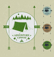 camping vintage emblemlogotype template vector image