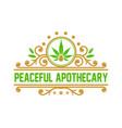 cannabis leaf oil vintage logo design vector image vector image