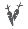 carrot glyph icon food and vegetable vector image
