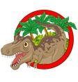 Cartoon big dinosaur vector image