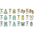 clothes line icon set vector image vector image