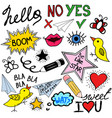 collection of doodle speech bubbles and design ele vector image vector image