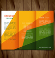 colorful shapes trifold brochure design vector image