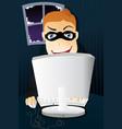computer criminal vector image vector image