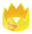 crown birthday icon isometric 3d style vector image