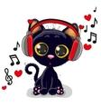 Cute cartoon Black Kitten vector image