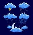 different weather vector image vector image
