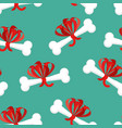 dog gift bone with bow pattern present for home vector image vector image