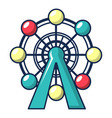 ferris wheel icon cartoon style vector image vector image