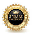 five years experience badge
