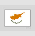 flag of cyprus national ensign aspect ratio 2 to vector image vector image