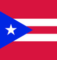 flag of puerto rico in official rate vector image