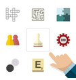 flat icon entertainment set of poker pawn vector image vector image