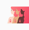 flat - women different cultures together vector image vector image
