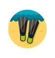Flippers flat icon vector image
