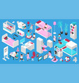 furniture for children room isometric set vector image vector image