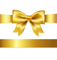 Gift Satin Bow vector image vector image