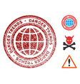 global danger trends stamp with dirty texture vector image vector image