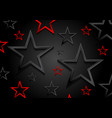 glossy red and black shiny stars background vector image