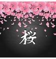 Graphic sakura card vector image