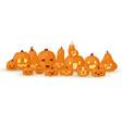 halloween horror pumpkin-heads jack o laterns vector image vector image