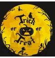 Halloween night background with pumpkin full moon vector image vector image