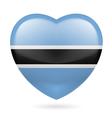 Heart icon of Botswana vector image
