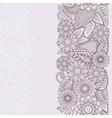 Henna Flowers Mehndi Design seamless vector image vector image