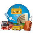 hotel services and transport vector image vector image