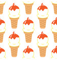ice cream cone seamless pattern background vector image