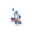 icon statue liberty united vector image