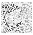 industrial emergency preparation Word Cloud vector image vector image