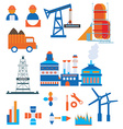 Industry icons for factory and workers vector image