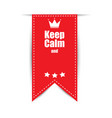 keep calm background red vector image vector image