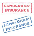 landlords insurance textile stamps vector image vector image