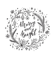 Merry and bright vector image vector image