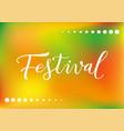 modern calligraphy lettering of festival in white vector image
