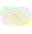 Multicoloured swirl spiral colorful abstract vector image vector image