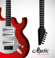 Music instruments design vector image vector image