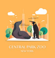 new york landmark central park zoo vector image vector image