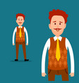 office worker or clerk character flat vector image