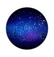 Outer space starry design vector image vector image