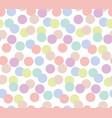 pale color random polka dot seamless pattern vector image vector image
