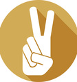 Peace Sign Icon vector image vector image