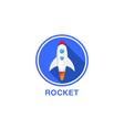 round flat icon rocket vector image vector image
