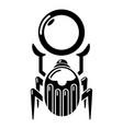 scarab icon simple black style vector image vector image